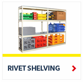 All Shelving Here By SSI Schaefer. Rivet Shelving, Wire